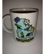Georgia Collectible Coffee Mug Cup Map Travel Tourist Souvenir - 8 oz - $22.76
