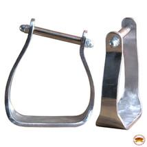 Horse Western Saddle Stirrup Tack Angled Aluminium Stirrups Hilason U-T105 - $49.45