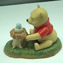 Winnie Pooh Friend Figurine Walt Disney Porcelain Enesco Welcome Little One Bird - $59.35