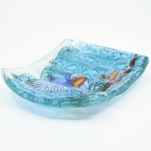 Fused Art Glass Bluebirds Bird Design Soap Dish Handmade in Ecuador image 3