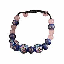 Blue Flora Vintage Colored Glaze Agate Bracelets Chinese Style Charm Bracelets image 1