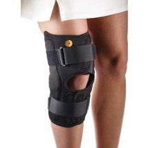 Corflex CoolTex Anterior Closure Wrap Around Hinged Knee Brace-L - Open Poplitea - $53.55