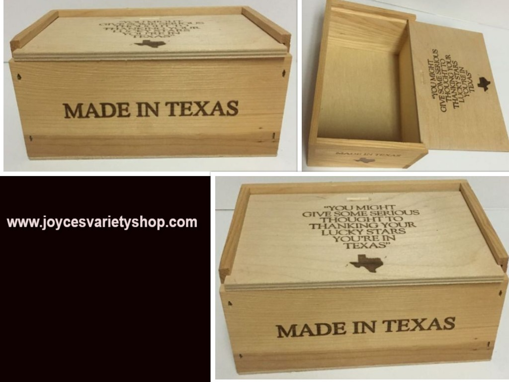 Texas wood box small web collage