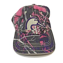 Ducks Unlimited Ladies Hat Cap Camo Duck Hunting Pink and Purple - $12.24
