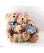 Family of 3 Honey Brown Plush Bears Berkeley Designs Jim Tik Max Heart S... - $6.88