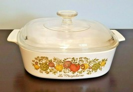 Vintage Corning Ware Spice of Life L'Echalote A-2-B 2 Liter Casserole Dish w/Lid - $24.70
