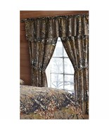 CAMO CAMOUFLAGE THE WOODS NEW 5 PC CURTAIN SET with PANELS, TIE BACKS, &... - $24.95