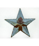 Country Galvanized 12 Inch Rusty Star Wall Pocket - $13.95