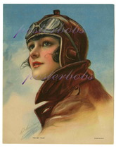 The Sky Pilot: Vintage Aviatrix 13 x 10 inchGic... - $19.95