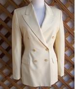 Jacket Blazer  6 Yellow  Wool Gabardine  Italy Barneys - $50.00
