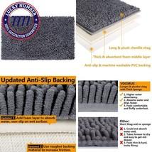Vdomus Soft Microfiber Shag Bath Rug, Extra Absorbent Comfortable, Anti-... - $18.88