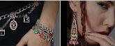 Signed ADAYA Maya Rayten Mosaic Necklace