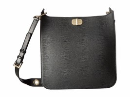 NWT MICHAEL KORS  SULLIVAN LARGE LEATHER NORTH SOUTH MESSENGER BAG BLACK - $191.57