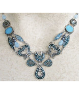 Signed ADAYA Maya Rayten Mosaic Necklace - $85.00