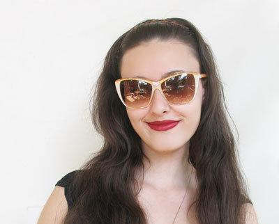 YSL New Vintage Cat Eye Sunglasses #8706