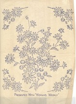 Two (2 x ) FLOWER BOUQUET embroidery transfers ORIG WW - $6.00
