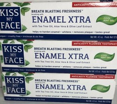 Kiss My Face Toothpaste Enamel Xtra Cool Mint Gel Vegan Fluoride (x3) Ex... - $33.85