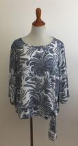 Talbots Woman Petites sz 16WP Floral Print Tie Waist Blouse - $27.71