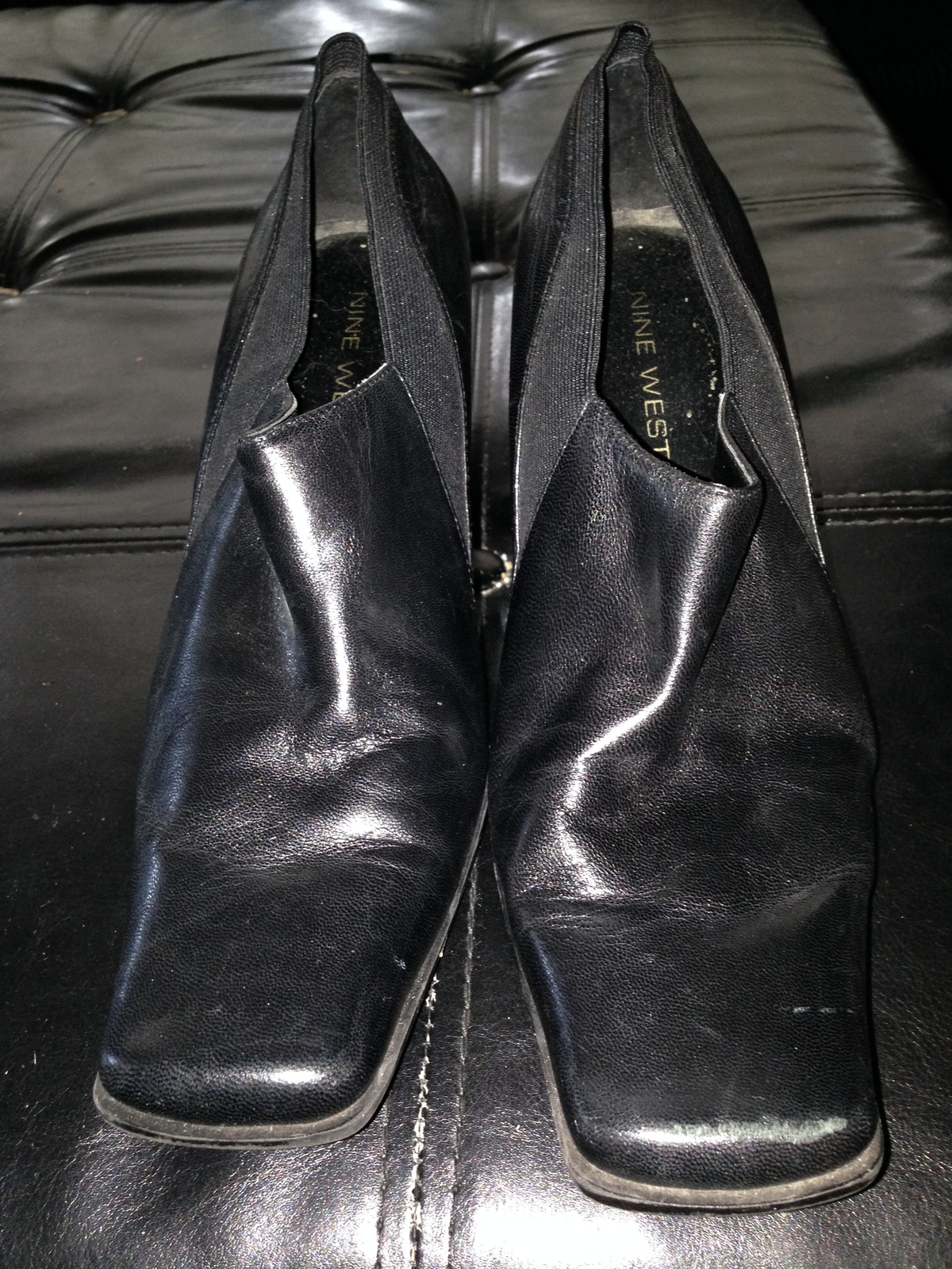 Woman's Nine West Heeled Leather Shoes Size 7 beautiful condition