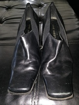 Woman's Nine West Heeled Leather Shoes Size 7 beautiful condition - $24.99