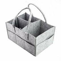 Grey Felt Baby Diaper Caddy Nursery Storage Wipes Bag Nappy Organizer Co... - $53.20