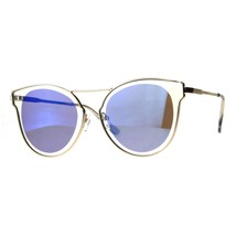 Womens Fashion Sunglasses Gold Metal Butterfly Frame Mirror Lens - $11.95