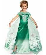 DELUXE DISNEY'S FROZEN FEVER ELSA CHILD HALLOWEEN COSTUME GIRLS SIZE LARGE  - $21.39