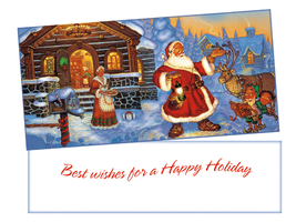 Happy Holiday ~ Christmas Holiday Gift Card or Money Holder - $5.00+