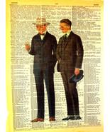 Art N Words Steampunk Real Men Era Original Dictionary Page Pop Art Print - $21.00
