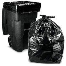 """64-65 Gallon Trash Bags for Toter, 50 Count w/Ties Large Garbage Bags, 50""""W x 60"""