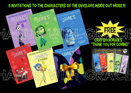 """PRINTABLE CUSTOM INVITATIONS PACK FOR PARTY """"INSIDE OUT""""  - $20.00"""