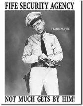 The Andy Griffith Show Fife Security Agency TV Show Character Metal Sign - $20.95