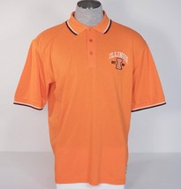 Men's L Izod Collegiate University Of Illinois Orange Short Sleeve Polo ... - $37.49
