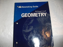 geometry  note taking  by  mcDougal L - $4.99