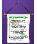 Ode to the Girl Scout Leader's Family - Personalized Wall Hanging (587-1) - $18.99