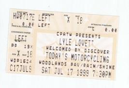 RARE Lyle Lovett & Keb Mo 7/17/99 Houston TX Woodlands Concert Ticket Stub! - $2.96