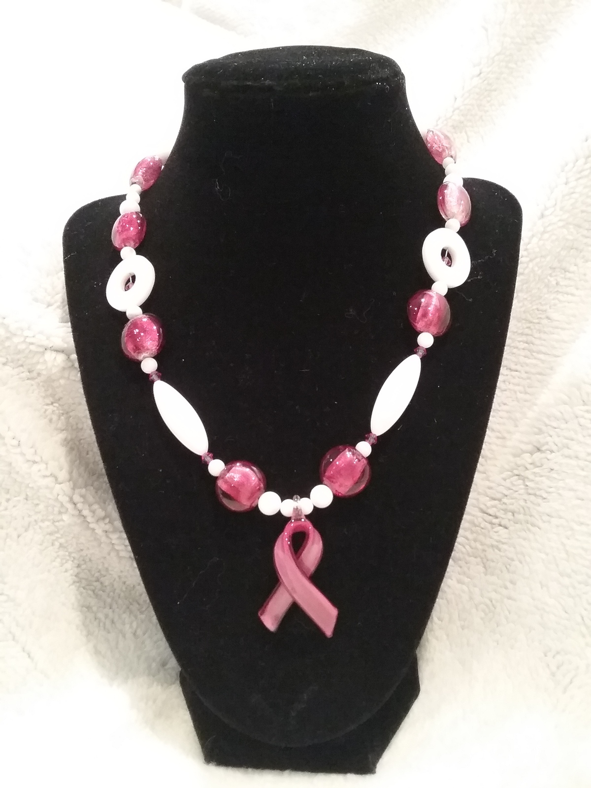 Breast Cancer Awareness Pendant Necklace