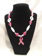 Breast Cancer Awareness Pendant Necklace  - $20.00