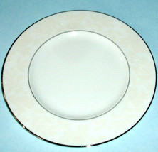 "Lenox Faith Accent Luncheon Plate Platinum Banded 9.25"" Made in USA New - $28.90"