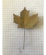 Brass Raised Maple Leaf Decorative Collectible Earrings Rings  - $3.99