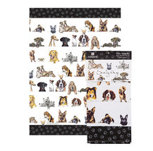 Dogs Tea Towel Scallywags Ashdene Pug Bulldogs Black Lab German Shepherd... - $14.84
