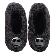Nightmare Before Christmas Skellington Unisex Adult Cozy Fuzzy Slippers ... - $16.50