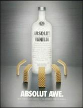 Absolut Vodka 2003 Awe Vanilia 8 x 11 advertisement Vanilla Wafers ad - $4.50