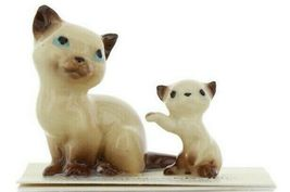 Hagen Renaker Miniature Cat Siamese Mama and Kitten Boxing Ceramic Figurines image 10