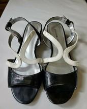 Womens Bandolino Sandal Heels Black and White Size 6 1/2 - $24.75