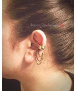 Turquoise Armor Ear Cuff No Piercing Ear Cuff Bohemian Ear Cuff Boho Ear... - $62.00
