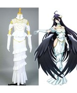 Overlord Floor Guardians Overseer Albedo Cosplay Costume Dress Gown Outf... - $94.76+