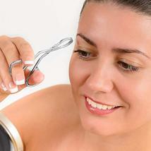 Eyebrow Tweezers, Scissors Shaped Eyebrow Straight Tip Tweezers Clip, Flat Tip T image 6
