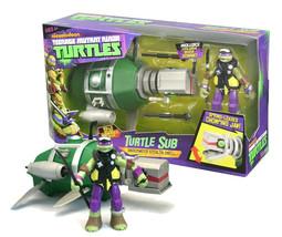 Teenage Mutant Ninja Turtles Turtle Sub Underwater Stealth Shell with Donnie NIB - $24.88