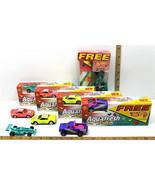 Vintage 1990's Aquafresh Kids Hot Wheels 9 Pc Lot Ferrari Rescue Toyota ... - $37.39